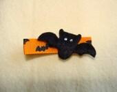 Bat Hair Clip-black with bling bling