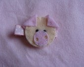 Pig Hair Clip-Pink READY TO SHIP