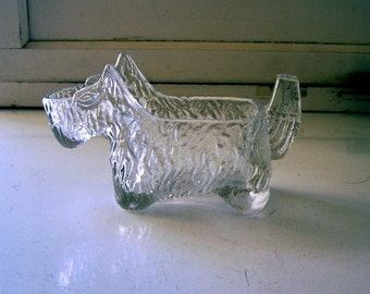 Vintage Glass Scottie Dog