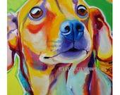 Chiweenie, Pet Portrait, DawgArt, Dog Art, Chiweenie Art, Pet Portrait Artist, Colorful Pet Portrait, Pet Portrait Painting, Art Prints, Art
