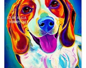 Beagle, Pet Portrait, DawgArt, Dog Art, Beagle Art, Pet Portrait Artist, Colorful Pet Portrait, Art Prints, Colorful Beagle Art, Art