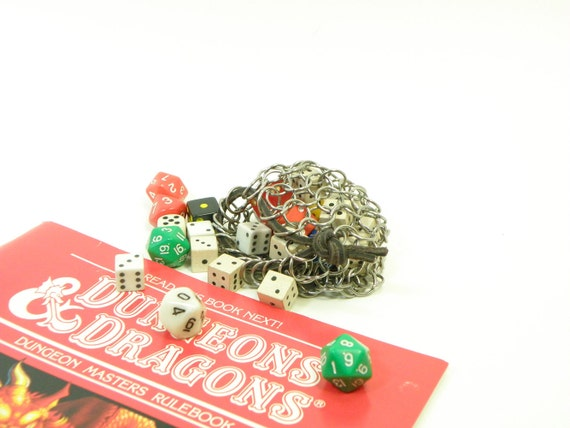 Chainmaille Dice Bag For Dungeons & Dragons RPG Games -  Small Stainless Steel - CBD-S-S