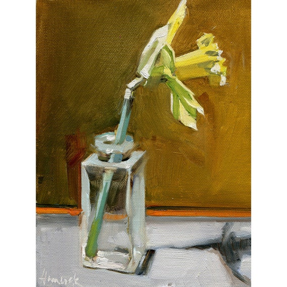 Single Daffodil Orange Stripe