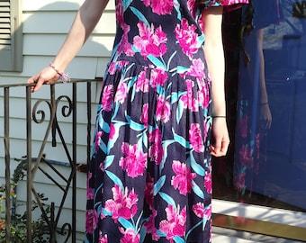 SALE- Vintage Maggie London Silk Dress