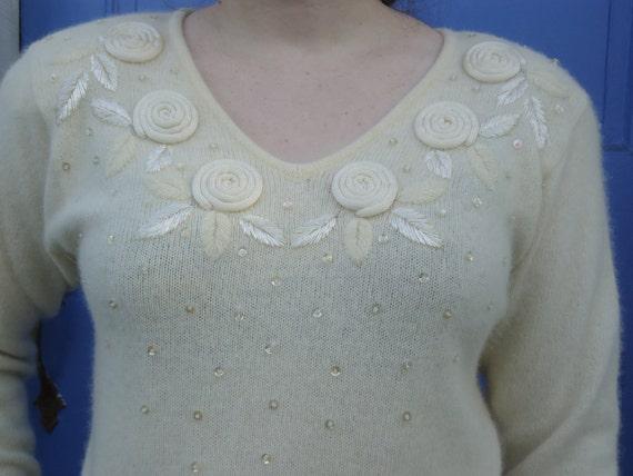 Soft & pretty White on White Sweater
