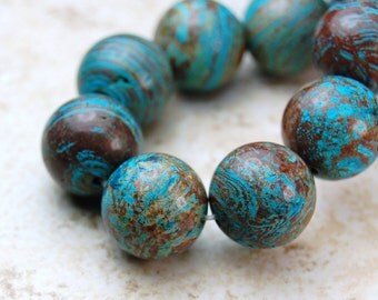 10mm Imperial Turquoise Jasper -15.5 inch strand