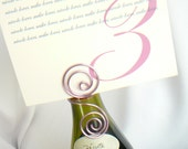 Wine Theme Bridal Shower Decorations,  Wine Bottle Sign Holders, 6pcs
