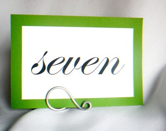 Simple Silver Table Number Holders, Wedding Decor, 20pcs