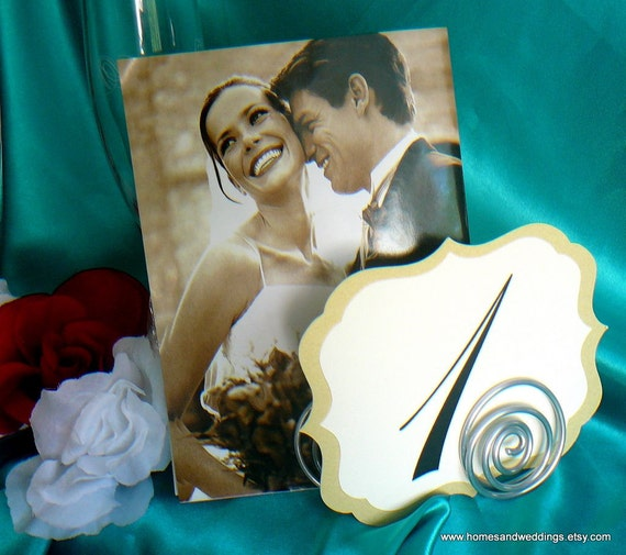 Wedding Decorations, Sign & Photo Table Holder, Menus, Numbers, Place Cards, 12, RESERVED