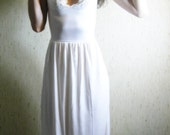 a dream within a dream - vintage 30s lace revived stunning ivory organic bamboo lace maxi dress