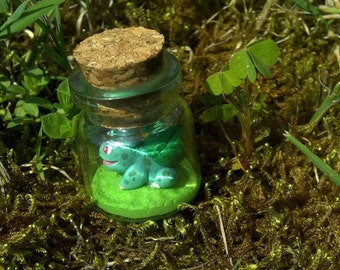 Bulbasaur PokéBottle - Polymer Clay Miniature Pokemon