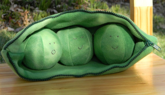 Reserved Listing for holt3129 - Plush Baby Toy - 3 Peas in a Pod