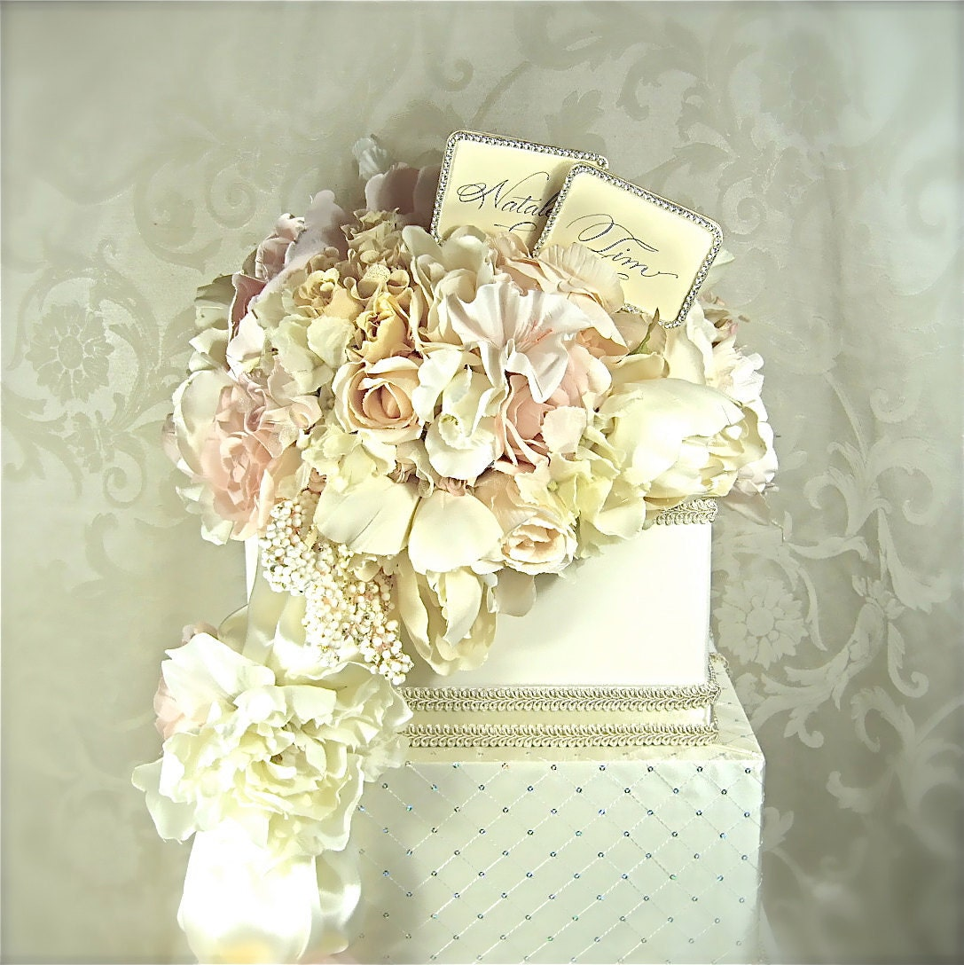 Wedding Card Boxes For Receptions: Wedding Card Box Pastel Bouquet Wedding Card Holder Wedding