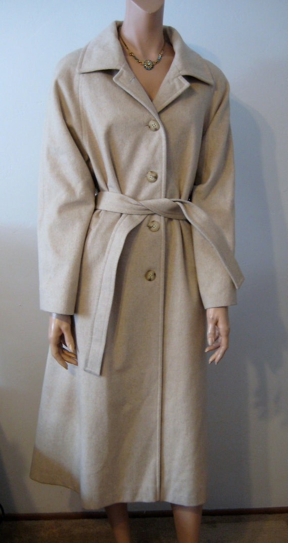 Camel Coat Wool and Cashmere for Winter Size M/L