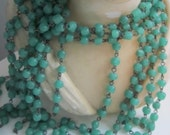 Vintage Glass Jade Green Cock Beaded Chain