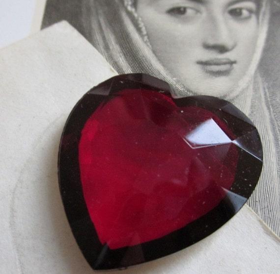 Garnet Crystal  Heart