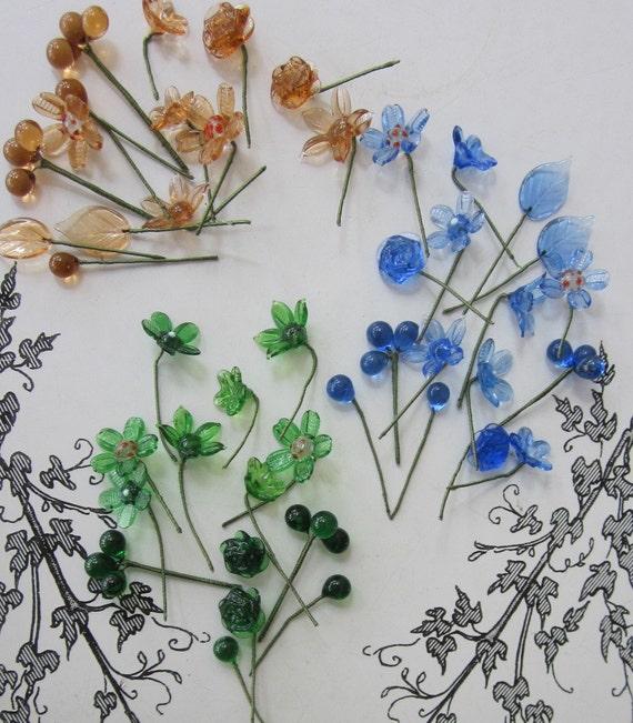 Greedy Girls Dream Of French Wired Glass Flowers