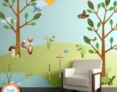 Forest Wall Decals for Personalized Kids Wall Mural