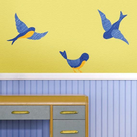 Bird Wall Decals for Bird Wall Decor (stk1099)