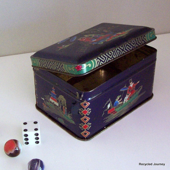 Daher Asian Motif Tea Tin
