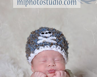 Pirate Crochet Baby Boy Hat and Photography Prop Ready Item