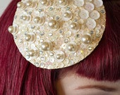 Hand made Pearl and sequined fascinator