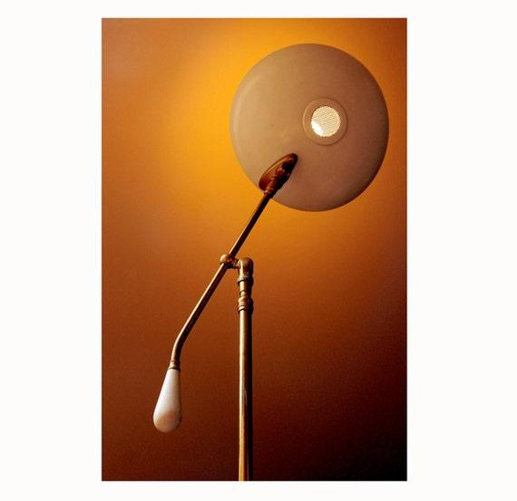 Mid Century Floor Lamp, Gerald Thurston, Lightolier, Flying Saucer, Atomic, Eames Era,A Vintage Beauty