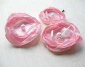 Pink Hair Flowers, Pink Flower Clip, Pink Bridal Flowers, Made in Sweden, Swedish Design, Swedish Wedding