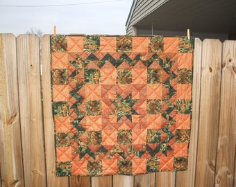 Hunter's  Delight Quilted Table Topper