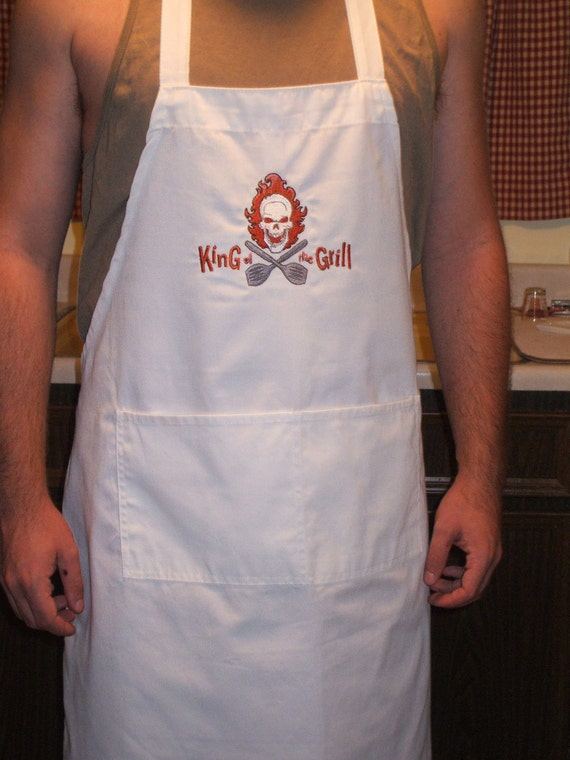 Embroidered Apron: King of the Grill