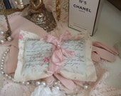 Reserved Listing For Rita  - ROMANTIC - Handmade - Lavender Sachet - in PARIS PINK -
