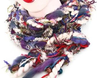 Scarf  - Shrug - Hand Spun Yarn - Artisan Yarn - Crochet