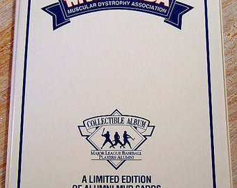 Vintage Baseball Card Collectible Album, Yogi Berra, Brooks Robinson, Willie Stargell, Harmon Killebrew, For MDA, Gift for Him, Christmas