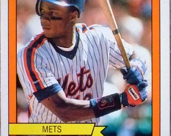 Vintage 1989 Panini Baseball Sticker of N.Y. Met's slugger Darryl Strawberry, Collectible, Gift For Him, National League All-Star, Christmas