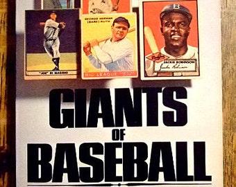 Giants of Baseball, Vintage Baseball Paperback by Bill Gutman, Cobb, Ruth, DiMaggio, Jackie Robinson, Gift for Him, Gift for Boys, Christmas