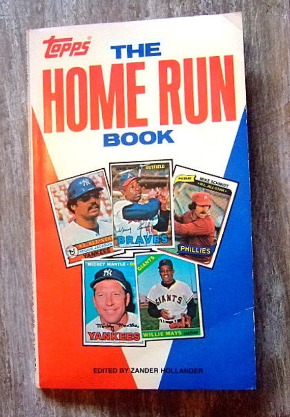 The Topps Home Run Book, Vintage Baseball Book, Gift For Him, Willie Mays, Mickey Mantle, Hank Aaron, Babe Ruth, Reggie Jackson, Christmas