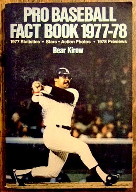Vintage Pro Baseball Fact Book 1977-78, 1977 Statistics, Action Photos, Reggie Jackson, Hall of Famers, Nolan Ryan, Gift For Him, Christmas