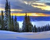 Sunrise over Long Valley, Idaho - Photo printed full-frame on 8x10