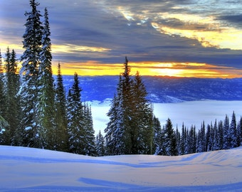 Sunrise over Long Valley, Idaho