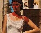 1970s VINTAGE KNITTING PATTERN Pdf - Summer/Evening Tops - Vest, Camisole & Halterneck, Instant Download Pdf from GrannyTakesATrip 0090