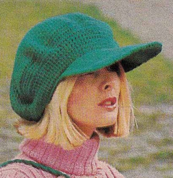 1970s Fringed Bag & Newsboy Cap VINTAGE CROCHET PATTERN, Hat, Belt,Purse, Boho/Retro/Folk/Hipster, Instant Pdf from GrannyTakesATrip 0069