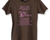 Vintage Look Hedgewitch Tee - Beautiful and Classy - Small to 5X