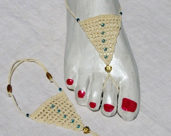 Barefoot Sandals -  Lattice Style for weddings, yoga, poolside