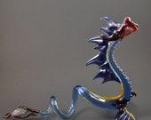 Glass Serpent, Dragon, Loch Ness Monster, Lampwork Sculpture