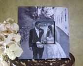 """Unique Wedding Gift, Personalized Picture Frame, Custom Wedding Picture Frame, Unique Anniversary Gift 8"""" x 8"""""""
