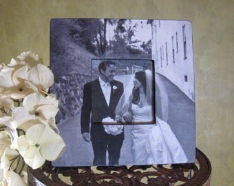 "Unique Wedding Gift, Personalized Picture Frame, Custom Wedding Picture Frame, Unique Anniversary Gift 8"" x 8"""