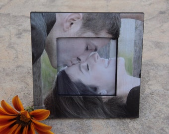 Unique Engagement Gift, Personalized Photo Frame, Custom Wedding Frame, Boyfriend Gift, Anniversary Gift, Valentine's Day Picture Frame