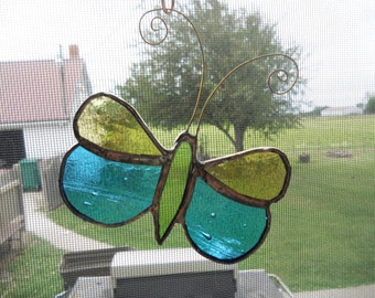 Stained Glass Butterfly Suncatcher/ Ornament