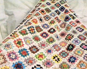 Instatant dowload 206. Beautiful crochet Blanket  Granny Squares Afghan  Throw Crochet Pattern  - PDF - Instant download