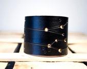 Leather Gemini Wrist Cuff